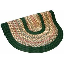 Pioneer Valley II Autumn Wheat with Dark Green Solids Multi Round Outdoor Rug