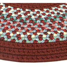 Pioneer Valley II Indian Summer with Burgundy Solids Runner Rug