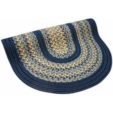 Pioneer Valley II Williamsburg with Dark Blue Solids Multi Round Rug
