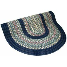 Pioneer Valley II Meadowland Blue with Dark Blue Solids Multi Round Outdoor Rug