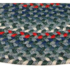 Pioneer Valley II Carribean Blue Multi Elongated Octagon Rug