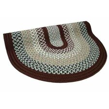Green Mountain Farmers Market Maroon Multi Round Rug