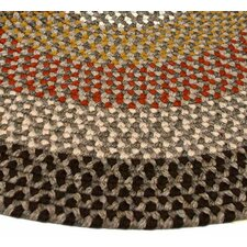 Green Mountain Log Cabin Brown Multi Elongated Octagon Rug