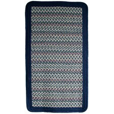 Pioneer Valley II Meadowland Blue with Dark Blue Solids Multi Square Rug