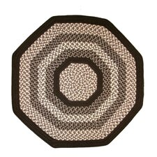 Green Mountain Fudge Brown Multi Octagon Rug
