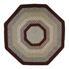 Green Mountain Farmers Market Maroon Multi Octagon Rug