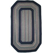 Pioneer Valley II Meadowland Blue with Dark Blue Solids Multi Elongated Octagon Outdoor Rug