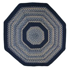 Pioneer Valley II Williamsburg with Dark Blue Solids Multi Octagon Outdoor Rug