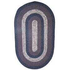 Town Crier Blue with Red Indoor/Outdoor Rug