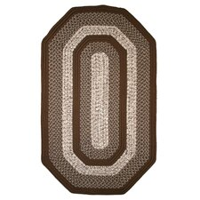 Town Crier Brown Elongated Octagon Rug
