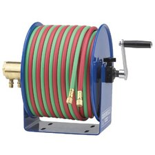 Twin-Line Welding Hose Reels - hand crank 1/4inx100ft twin-line -less hose