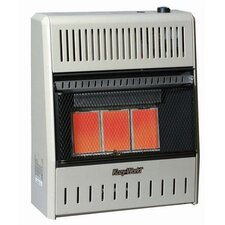 18,000 BTU Infrared Wall Natural Gas Space Heater with Thermostat