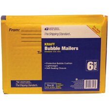 "<strong>Lepages</strong> 6"" x 9"" Manila Kraft USPS Bubble Mailer (Pack of 6)"