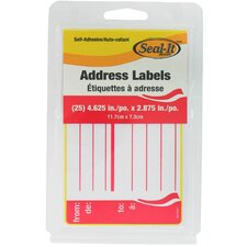 25 Count Address Label
