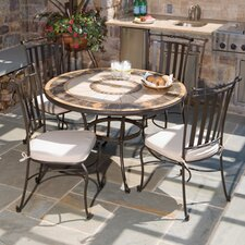 Compass Mosaic 5 Piece Dining Set
