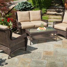 Bar Harbor 4 Piece Seating Group with Cushion