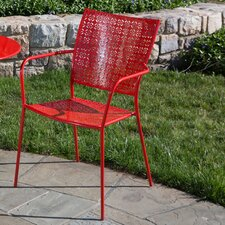 <strong>Alfresco Home</strong> Martini Stacking Dining Arm Chair (Set of 2)