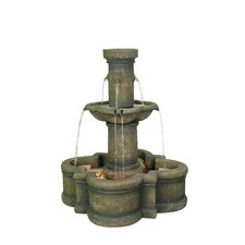 Apollo Outdoor Resin Tiered Fountain