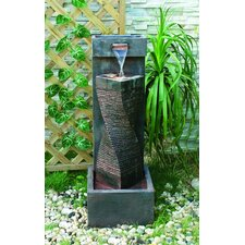 Spiral Indoor / Outdoor Resin Column Fountain