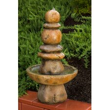 Sedona Outdoor Resin Column Fountain