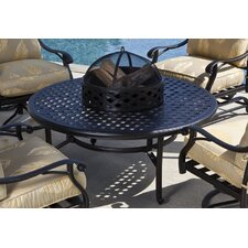 Weave Coffee Table with Firepit