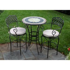 <strong>Alfresco Home</strong> Ponte Mosaic Bar Bistro Set
