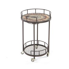 Asti Mosaic Outdoor Serving Cart