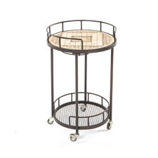 <strong>Alfresco Home</strong> Basilica Mosaic Outdoor Serving Cart