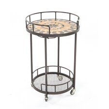 Loretto Mosaic Outdoor Serving Cart