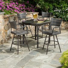 <strong>Alfresco Home</strong> Tutto All Weather Wicker 5 Piece Bar Height Dining Set