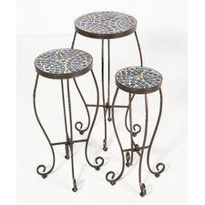 Tremiti Mosaic Plant Stand (Set of 3 )