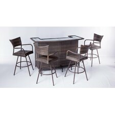 <strong>Alfresco Home</strong> Tutto All Weather Wicker 5 Piece Party Bar Set