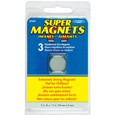 Neodymium Disc Magnets (Pack of 3)