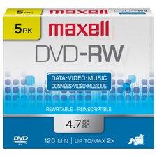 5 Count DVD-RW Disc