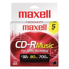 5 Count CD-R Music Disc
