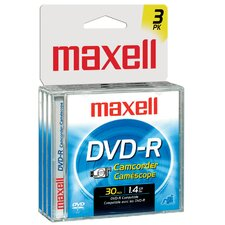 3 Count DVD-R Camcorder Disc
