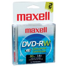 2 Count DVD-RW Camcorder Disc
