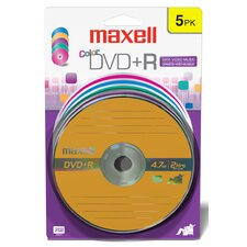 DVD+R 5 Pack Assorted Color