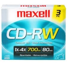 CD-RW 3 Pack Rewritable For Audio Recoding