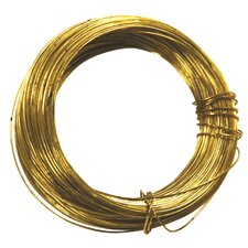 100' 24 Gauge Brass Hobby Wire 50153