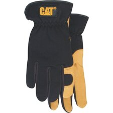 Large Premium Leather Gloves With Gel Pad in Palm
