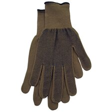 Extra-Large Men's Dotted Bamboo Knit Gloves G117TXL