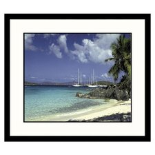 Seascapes Caribbean Bay Framed Photographic Print