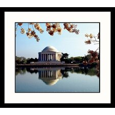 National Treasures Jefferson Memorial in the Spring Framed Photographic Print