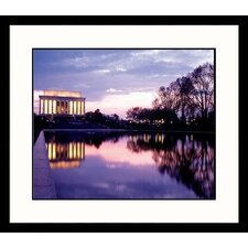 National Treasures Reflections, Lincoln Memorial Framed Photographic Print