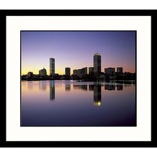 Cityscapes 'Back Bay' Dawn Framed Photographic Print