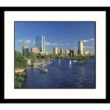 Cityscapes Back Bay Day Framed Print