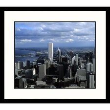Cityscapes Chicago Aerial Day Framed Photographic Print