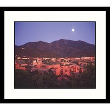 Moonrise Over Sante Fe Framed Photograph