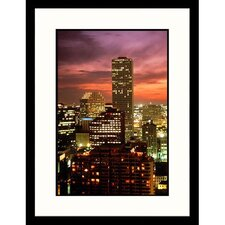 <strong>Great American Picture</strong> Skyline Sunset of New Orleans, Louisiana Framed Photograph